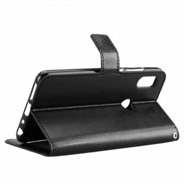 Samsung A40 Plånboksfodral PU-Läder 4-FACK (SM-A405FN) Svart