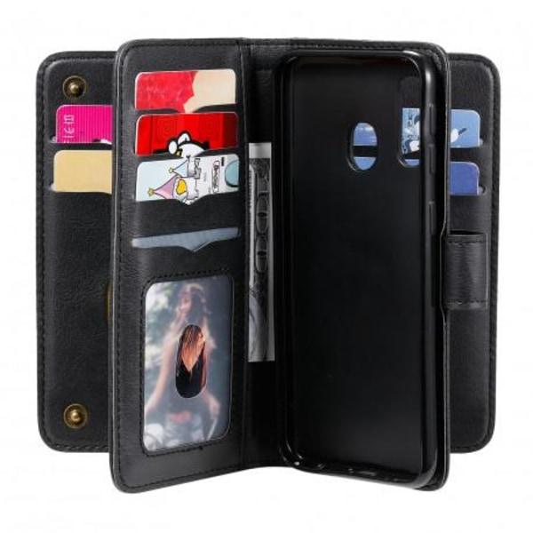 Samsung A40 Praktisk Plånboksfodral med 11-Fack Array® V2 Svart