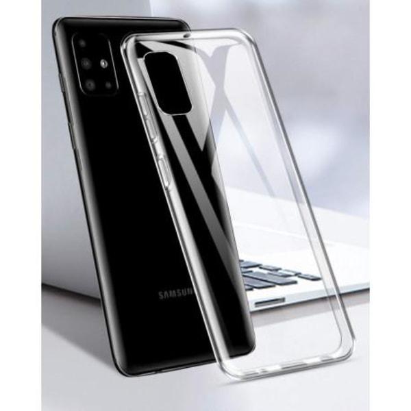 Samsung A51 Stötdämpande Silikon Skal Simple® Transparent