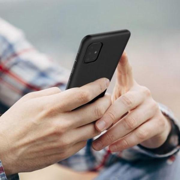 Samsung A51 Ultratunn Mjukt Gummibelagd Mattsvart Skal Black