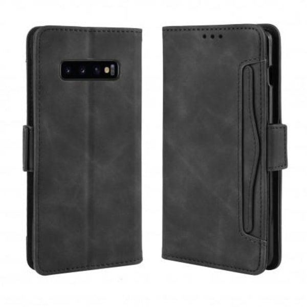 Samsung Galaxy S10 Plus Plånboksfodral PU-Läder 6-FACK Winston®  Svart