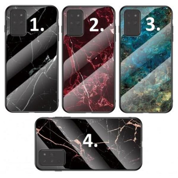 Samsung Note 20 Marmorskal 9H Härdat Glas Baksida Glassback® V2 Green Variant 3