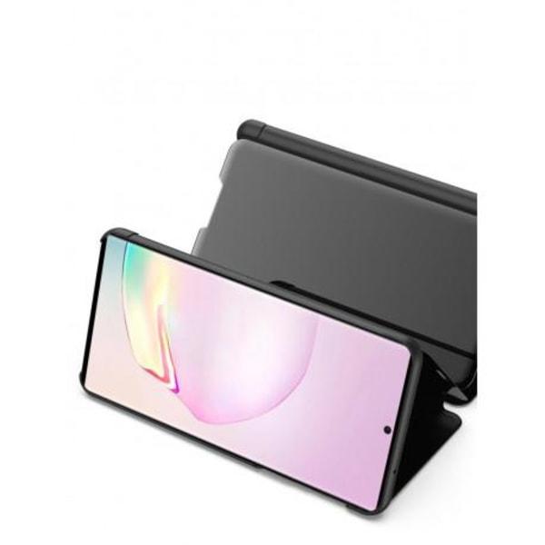Samsung Note 20 Smart Flipfodral Clear View Standing V2 Rocket® Svart