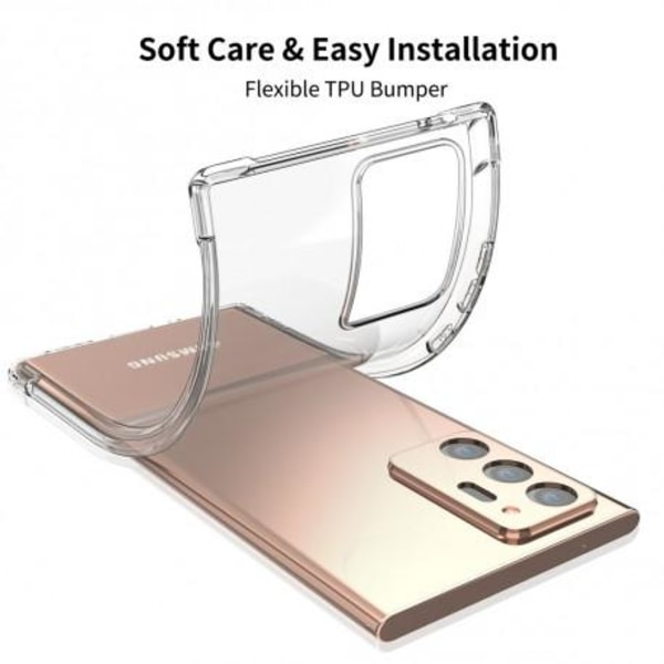 Samsung Note 20 Stötdämpande Silikon Skal Shockr® Transparent