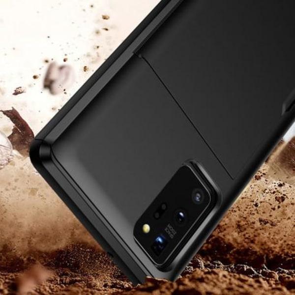 Samsung Note 20 Stöttåligt Skal Kortfack StreetWise® Svart