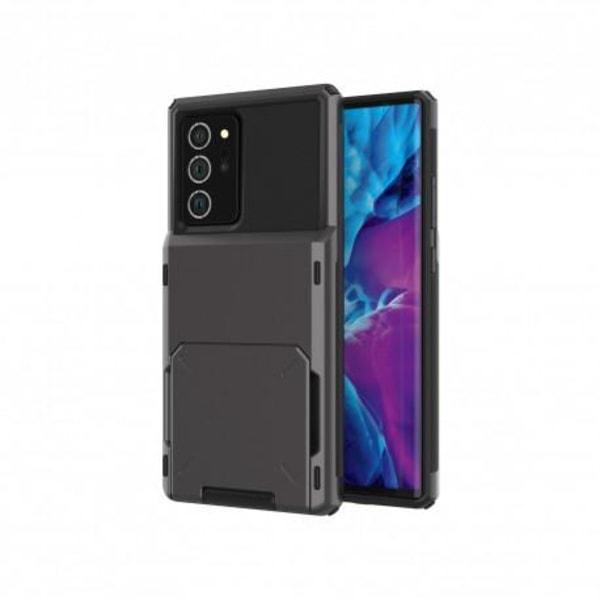 Samsung Note 20 Stöttåligt Skal med Kortfack Void® Svart