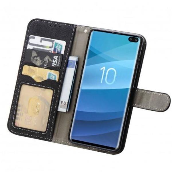 Samsung S10 Plus Praktisk Plånboksfodral med 7-FACK Pharah® Svart