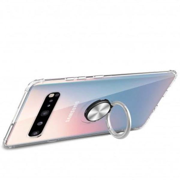 Samsung S10 Plus Stöttåligt Skal med Ringhållare Fresh® Transparent
