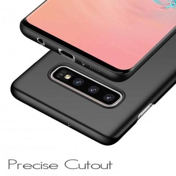 Samsung S10e Ultratunn Gummibelagd Mattsvart Skal Svart