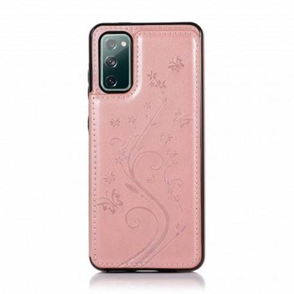 Samsung S20 FE Stöttåligt Skal Korthållare 3-FACK Flippr® V2 Rosa guld
