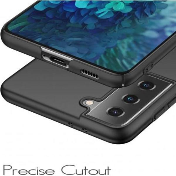 Samsung S21 Plus Ultratunn Gummibelagd Mattsvart Skal Basic® V2 Svart