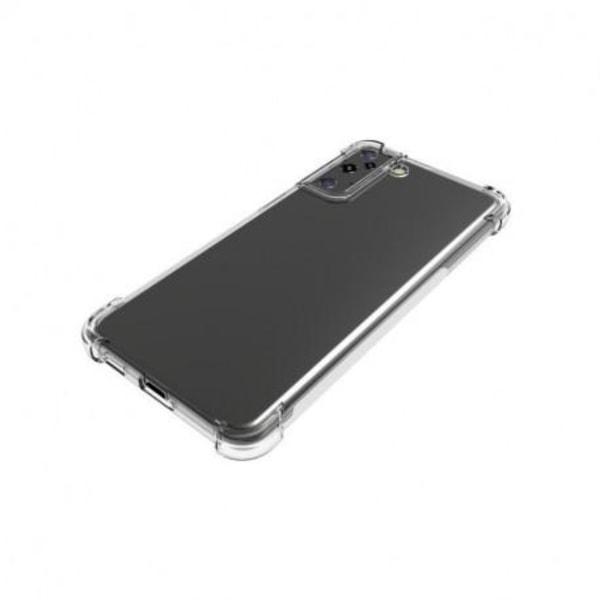 Samsung S21 Stötdämpande Silikon Skal Shockr® Transparent