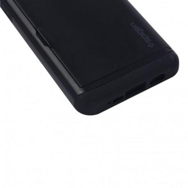 Samsung S7 Stöttåligt Skal Kortfack StreetWise® Svart