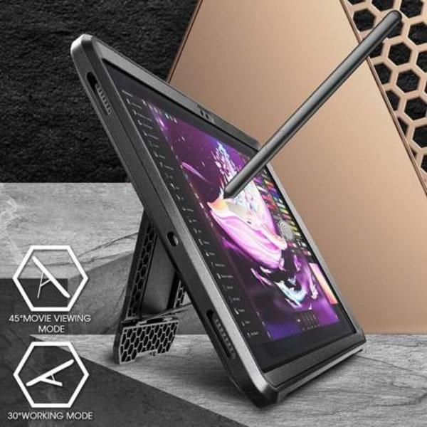 Samsung Tab S7 Plus 12.4 Stöttåligt Skal Supcase Unicorn Beetle  Svart