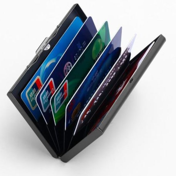 Stilren Korthållare RFID-Secure - 8-KORT Svart
