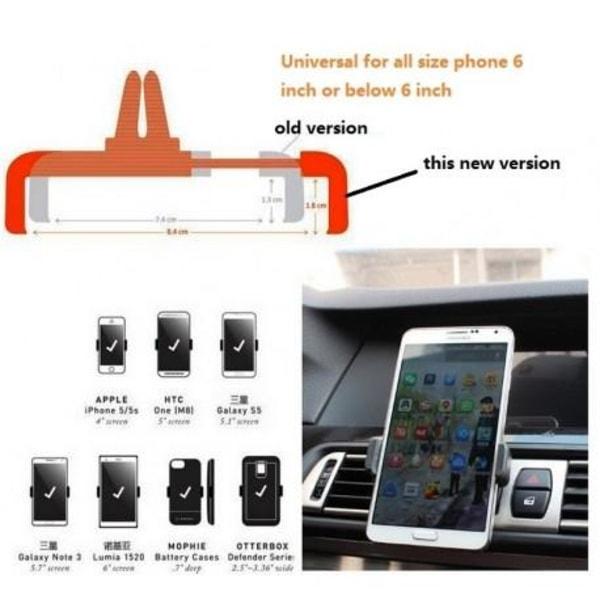 Universal Mobilhållare   Svart Svart