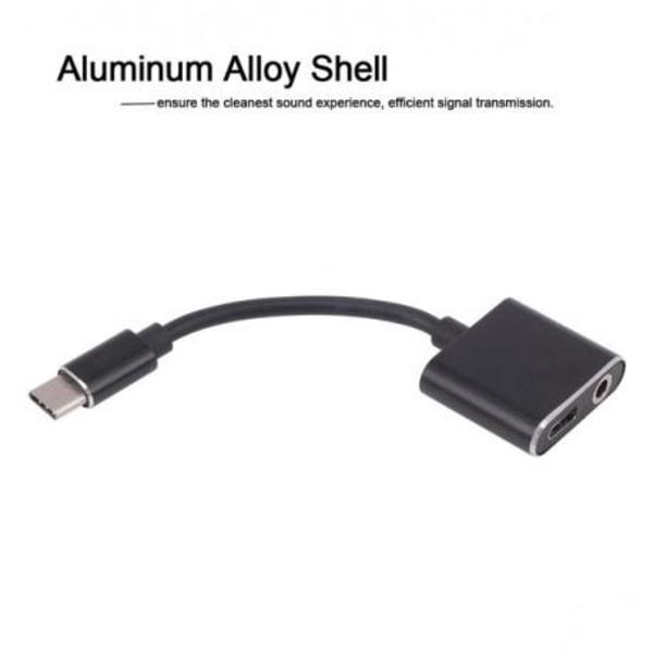 USB Type-C till AUX + USB-C Type-C