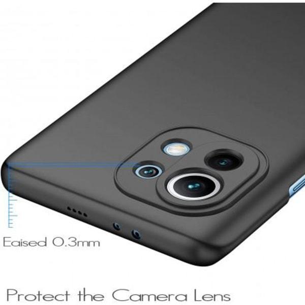 Xiaomi Mi 11 Ultratunn Gummibelagd Mattsvart Skal Basic® V2 Svart