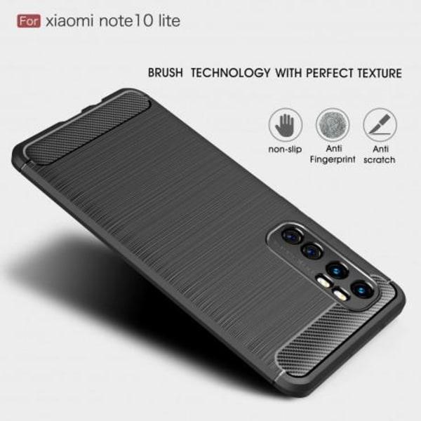 Xiaomi Mi Note 10 Lite Stöttåligt Skal SlimCarbon® Svart