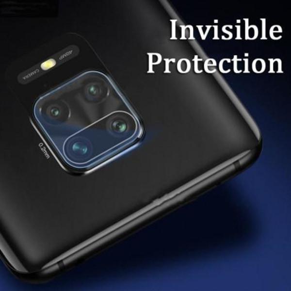 Xiaomi Redmi Note 9 Kamera Skydd Linskydd Flexibelt Glas Svart