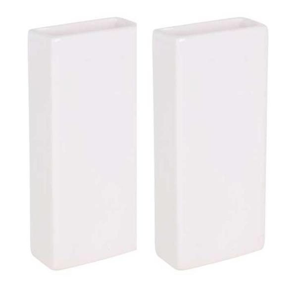 Luftfuktare i keramik, rektangulär 2-pack Vit
