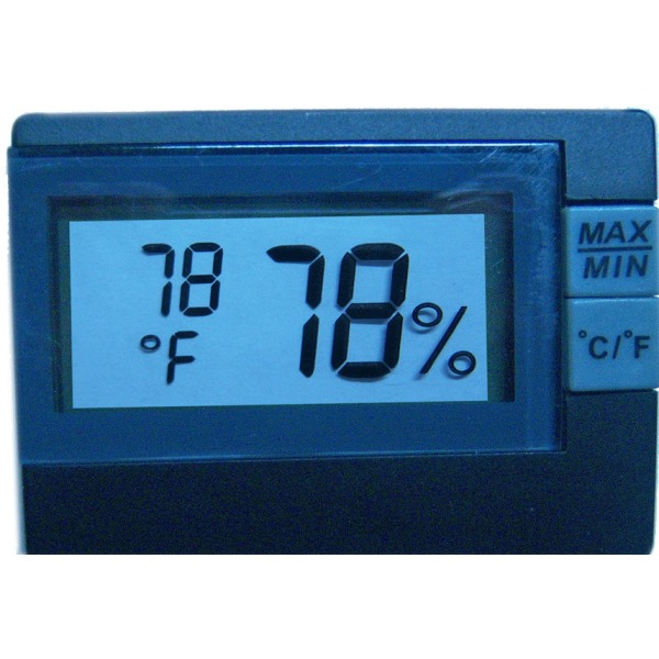 termometer / Hygrometer, svart Svart