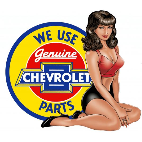Chevrolet dekal, finns i 6 storlekar 34,9x31 cm
