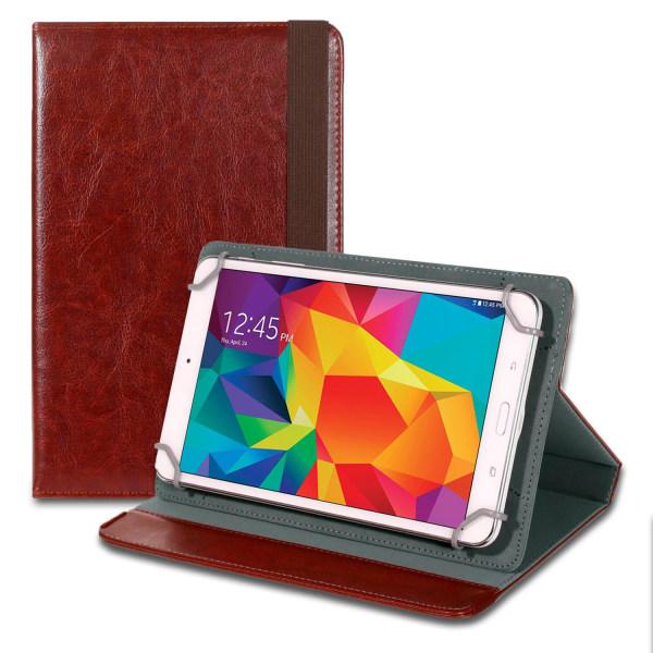 Business Sleeve Tablet för Universal 8 Zoll Etui Ställfunktion H Brun