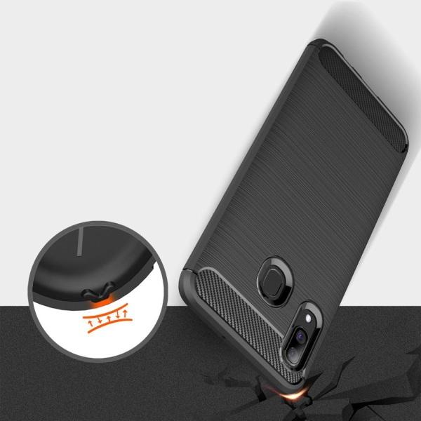 Case för Samsung Galaxy A30 | Svart TPU Unicolor vanligt Svart