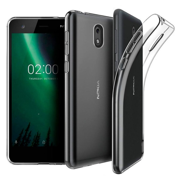 Enfärgat Transparent Mjukt Skal för Nokia 2 Klart Klart Transparent