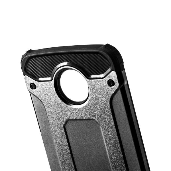 Hårt Mobil Skal till Motorola Moto Z2 Play Grå Hybrid grå