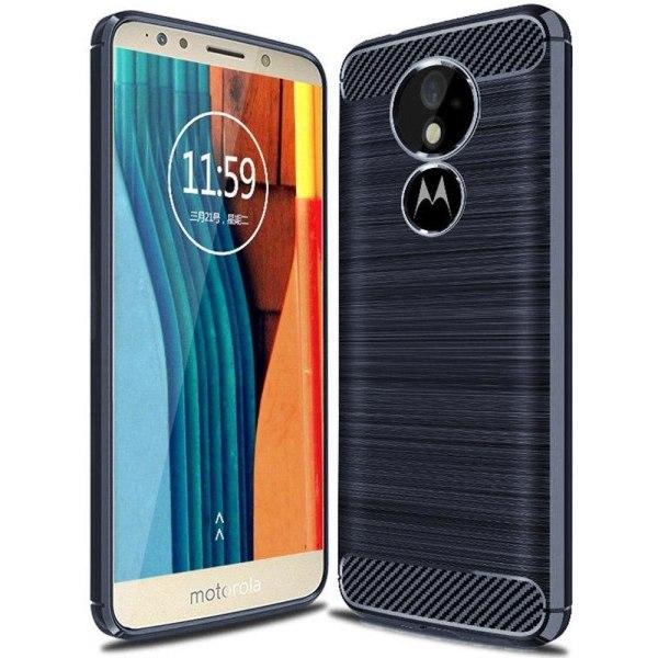 Kolfiber Skal för Motorola Moto G6 Play Matt Armor Telefon Mobil Mörkblå