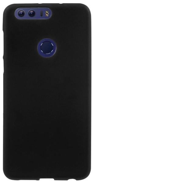 Matt Mjukt Skal för Huawei Honor 8 Mobilskydd Gummi Telefon Stöt Svart