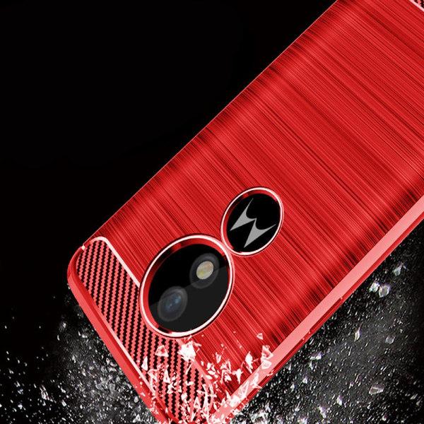 Mjukt Gummi Skal för Motorola Moto G6 Play Silikon Telefon Skydd Röd
