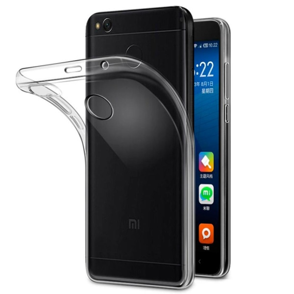 Mjukt Klart Tunnt Mobilskal för Xiaomi Redmi 4x Silikon Klart Transparent