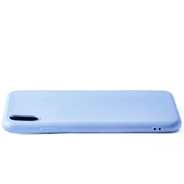 Mjukt Mobil-Skydd för iPhone XS Max Lätt Enfärgat Tunnt Silikon  Lila