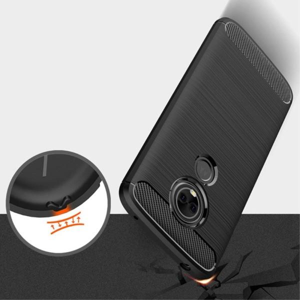 Mobil Skydd Gummi för Motorola Moto E5 Plus Matt Mobilskydd TPU  Svart