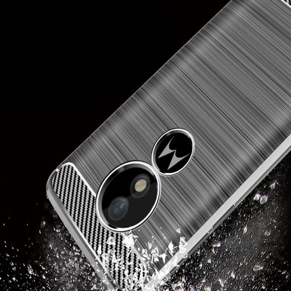 Mobil Skydd Gummi för Motorola Moto G6 Play Kolfiber Mobilskal S grå