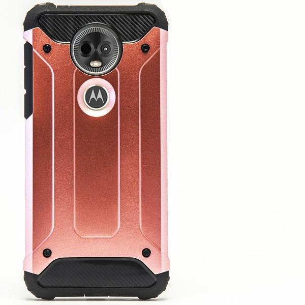 Mobil Skydd till Motorola Moto E5 Plus | Hårt Hybrid Skal i Rosa Rosa guld