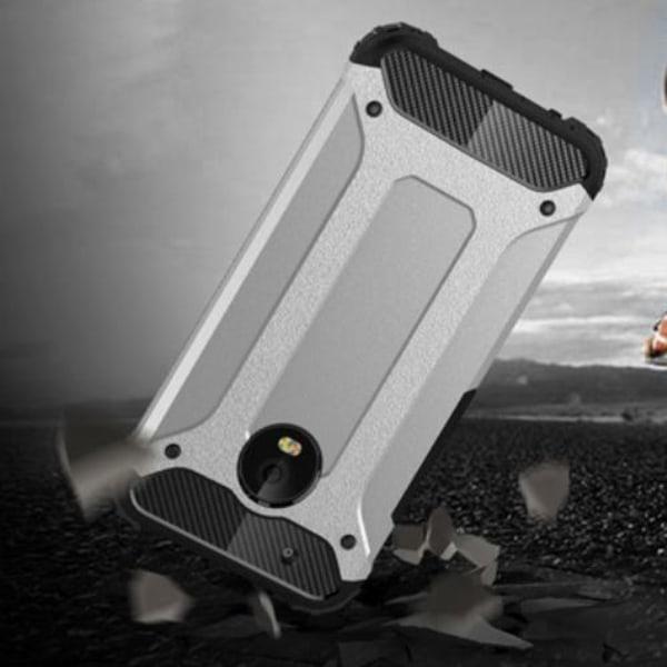 Skal till Lenovo Moto G5 Fodral Motorola Silver Skydd Armor Silver