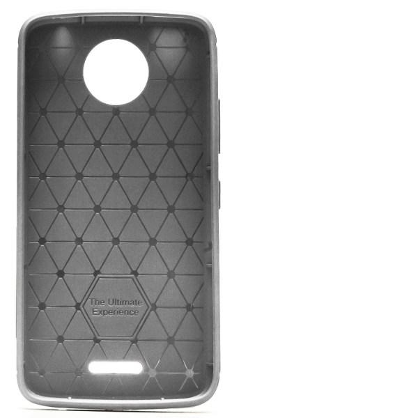 Skal till Motorola Moto C Plus Grå Kolfiber Armor Fodral Skydd grå