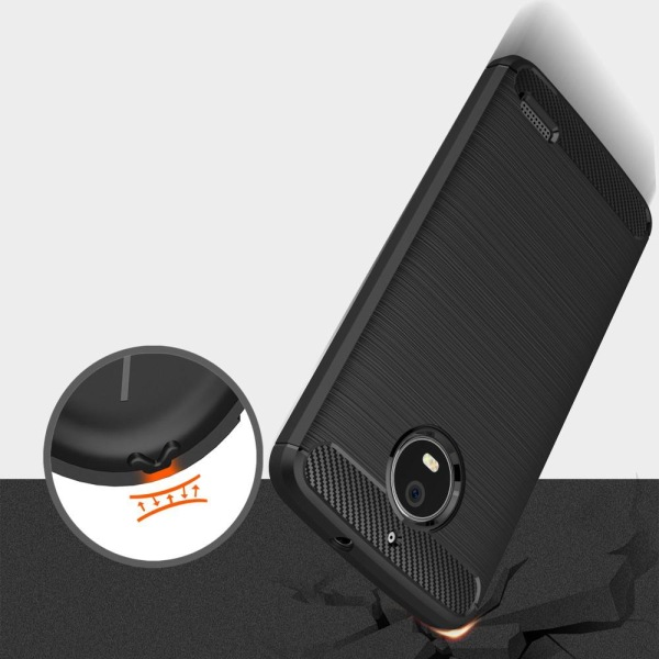 Skal till Motorola Moto E4 Lenovo Fodral Skydd TPU Slim Armor Ko Black