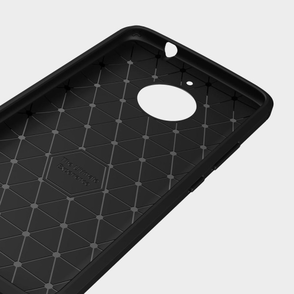 Skal till Motorola Moto E4 Plus Lenovo Fodral Skydd TPU Armor Ko Black