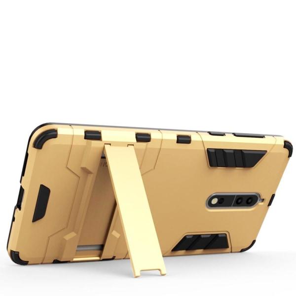 Skal till Nokia 8 Space Armor Guld Hård Plast Skydd Fodral
