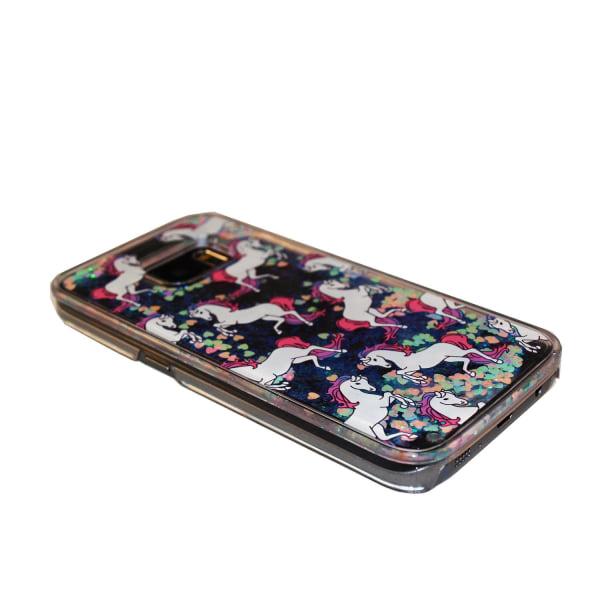 Skal till Samsung Galaxy S8 Plus Enhörning Motiv Hård Plast Flyt Transparent