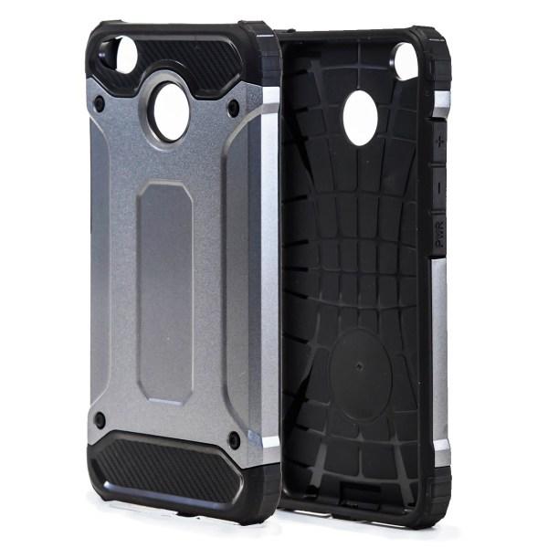 Skal till Xiaomi Redmi 4x Hårt Armor Skydd Grå TPU Fodral Grey