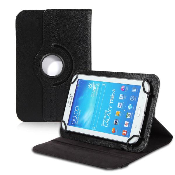 Tablet-fodral för Universal 7 Zoll Ställfunktion Etui Kickstand  Svart