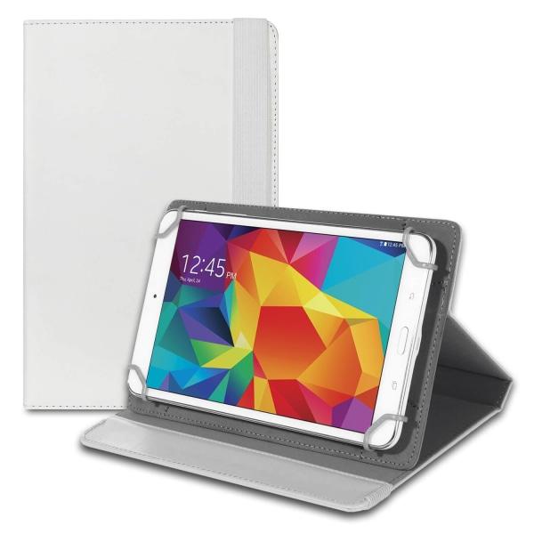 Tablet Fodral Skydd för Universal 8 Zoll Etui Plast Läsplatta St Vit
