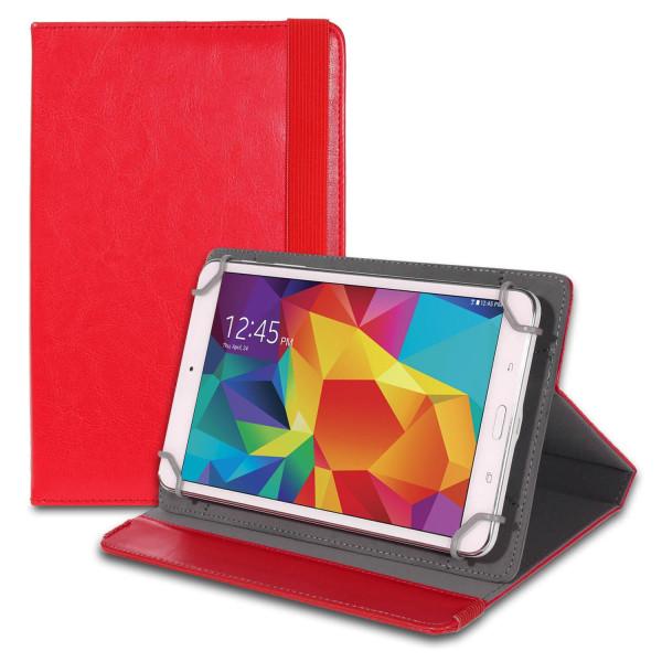 Tablettskydd Hölje för Universal 8 Zoll Plast Etui Ställfunktion Röd