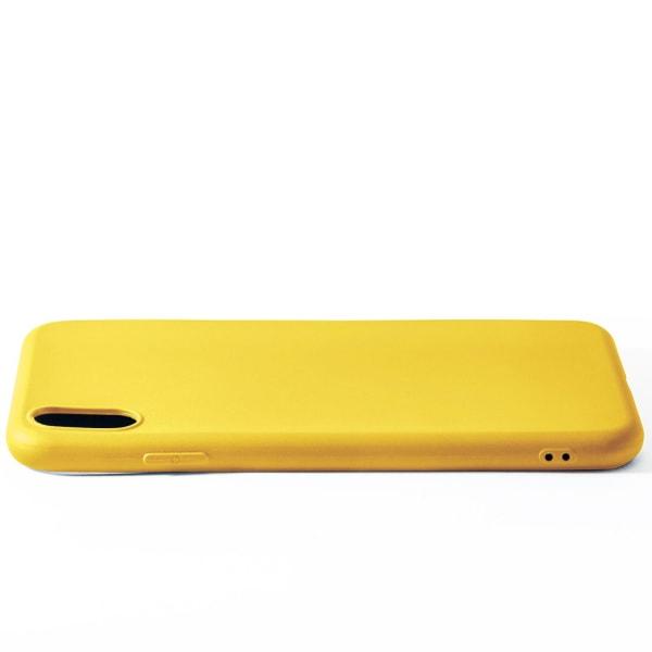 Ultra tunnt skal till för iPhone XS Max Lätt Ultra-Slim Mjukt Gu Citron gul